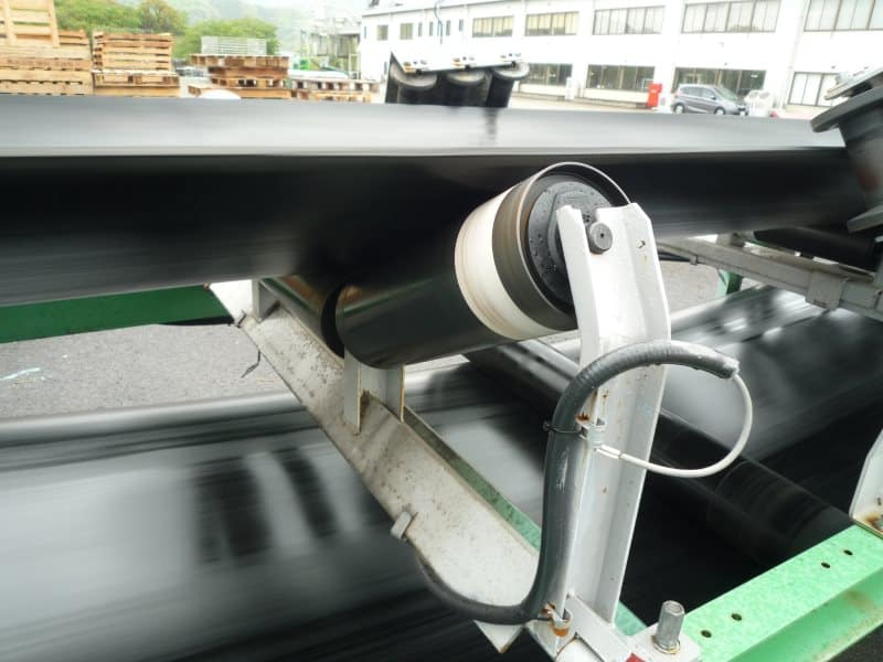 JRC test conveyor carrier rollers with Vayeron sensor wireless real time data capture
