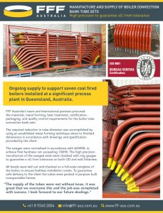 thumbnail of FFF Australia – Manufacture and Supply – Boiler Convection Bank Tube sets