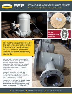 thumbnail of FFF Australia – Replacement S&T Heat Exchanger Bonnets